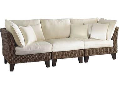 Panama Jack Sunroom Sanibel Wicker Cushion Sofa PJPJS1001ATQ3PS