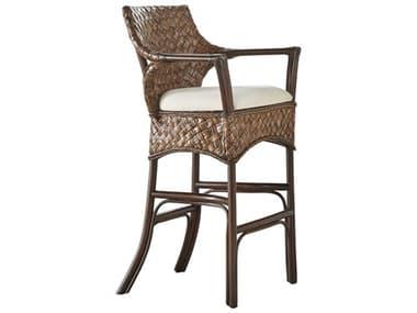 Panama Jack Sunroom Espresso Wicker Cushion Barstool PJPJS1601ATQBS