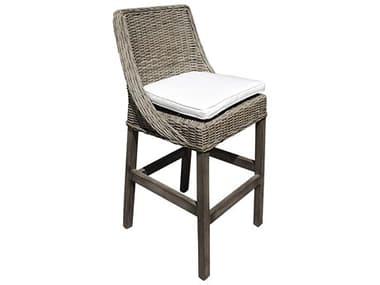 Panama Jack Sunroom Exuma Wicker Cushion Barstool PJPJS3001KBUBS