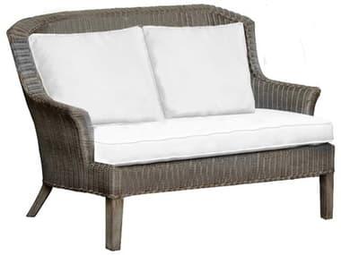 Panama Jack Sunroom Playa Largo Wicker Cushion Loveseat PJPJS9001GRYLS