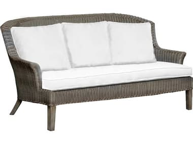Panama Jack Sunroom Playa Largo Wicker Cushion Sofa PJPJS9001GRYS