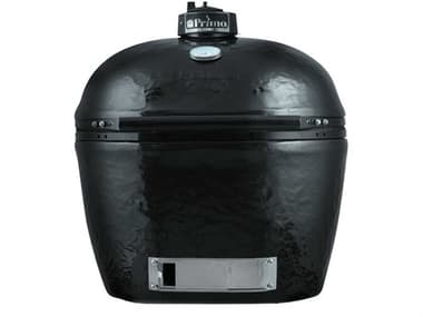 Primo Ceramic Oval X-Large Charcoal Grill Smoker with Stainless Steel Grates PMPGCXLH