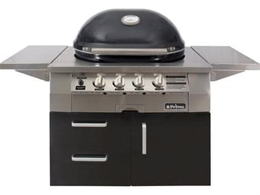 Primo All-In-One Ceramic Oval X-Large Gas Grill | 21 |000 BTU - Cart-Mounted PMPGGXLC
