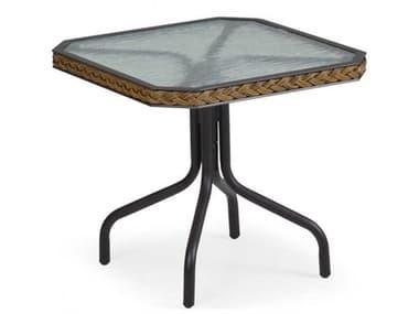 Palm Springs Rattan Cape Town Aluminum 19''W x 17''D Rectangular Black Tea Table PS3219