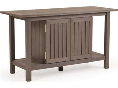 Palm Springs Rattan Miramar PoliSoul 54''W x 20''D Console Table with Doors PS5271