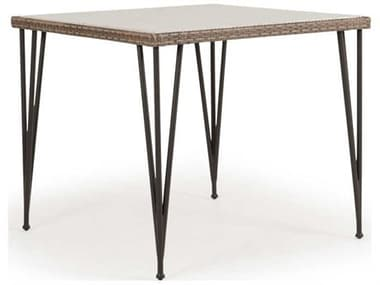 Palm Springs Rattan Augusta Wicker 39'' Wide Square Stone Top Counter Height Table PS621839CTST