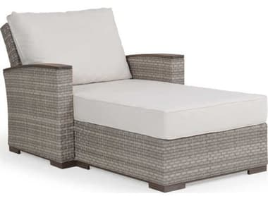 Palm Springs Rattan Adair Wicker Chaise and a Half PS641818