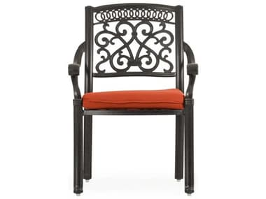 Palm Springs Rattan Dauphine Cast Aluminum Dining Arm Chair PS721730