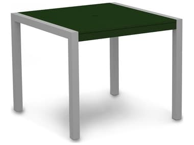 POLYWOOD® Mod Aluminum 36'' Wide Square Dining Table PW8100