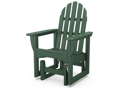 POLYWOOD® Classic Adirondack Recycled Plastic Glider Chair PWADSGL1