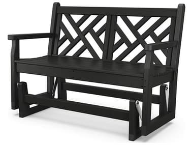 POLYWOOD® Chippendale Recycled Plastic Glider Loveseat PWCDG48