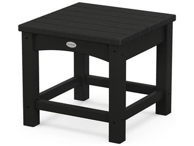 POLYWOOD® Traditional Recycled Plastic 18'' Wide Square End Table PWCLT1818
