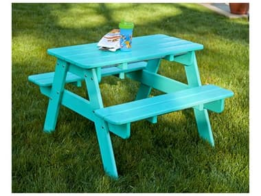POLYWOOD® Kids Recycled Plastic 30''W x 21''D Rectangular Picnic Table PWKT130
