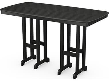 POLYWOOD® Nautical Recycled Plastic 72''W x 37''D Rectangular Bar Table PWNCBT3772