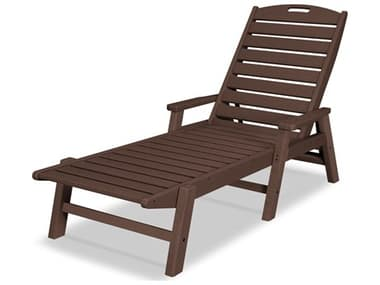 POLYWOOD® Nautical Recycled Plastic Stackable Chaise Lounge PWNCC2280