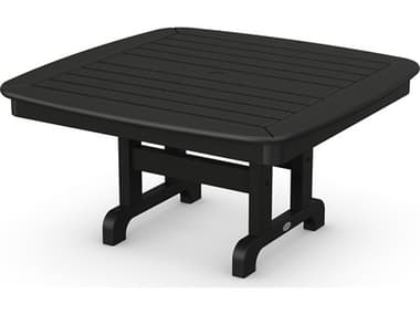 POLYWOOD® Nautical Recycled Plastic 37'' Wide Square Chat Table PWNCCT37