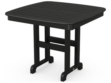 POLYWOOD® Nautical Recycled Plastic 37'' Wide Square Dining Table PWNCT37
