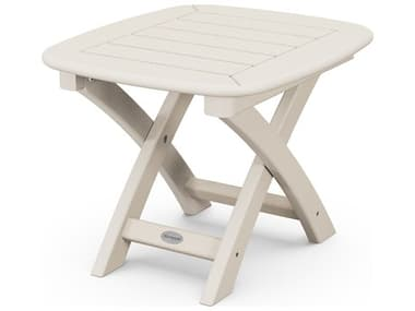 POLYWOOD® Nautical Recycled Plastic 21''W x 18''D Rectangular End Table PWNST