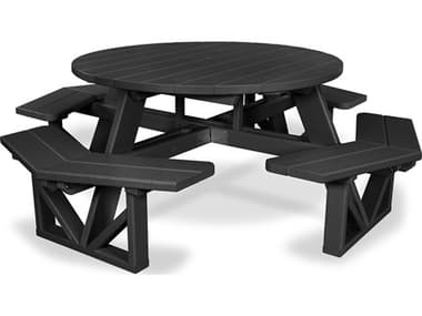 POLYWOOD® Park Recycled Plastic 53'' Octagon Picnic Table PWPH53