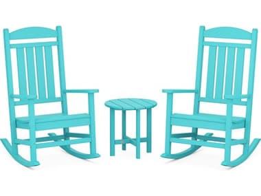 POLYWOOD® Presidential Recycled Plastic 3-Piece Rocker Lounge Set PWPWS1091