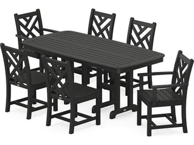POLYWOOD® Chippendale Recycled Plastic 7-Piece Dining Set PWPWS1211