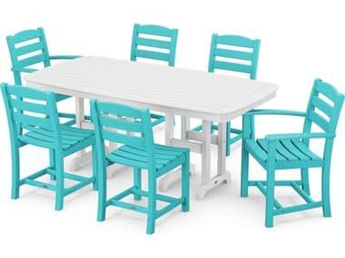 POLYWOOD® La Casa Cafe Recycled Plastic 7 Piece Dining Set PWPWS1311