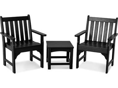 POLYWOOD® Vineyard Recycled Plastic 3-Piece Garden Lounge Set PWPWS1421