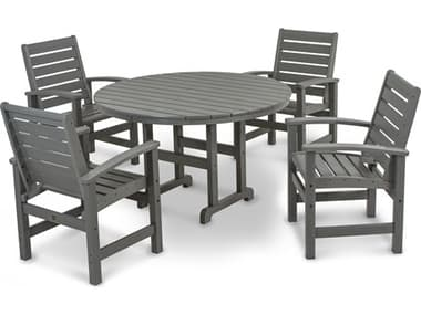 POLYWOOD® Signature Recycled Plastic 5-Piece Dining Set PWPWS1521