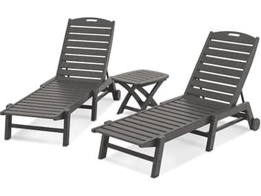 POLYWOOD® Nautical Recycled Plastic 3-Piece Chaise Set PWPWS1571
