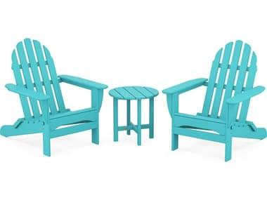 POLYWOOD® Classic Adirondack Recycled Plastic 3-Piece Lounge Set PWPWS2141