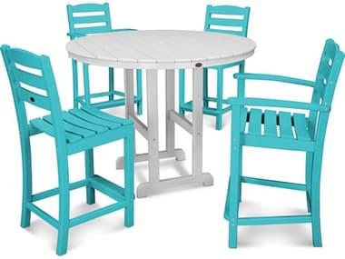 POLYWOOD® La Casa Cafe Recycled Plastic 5 Piece Dining Set PWPWS2541
