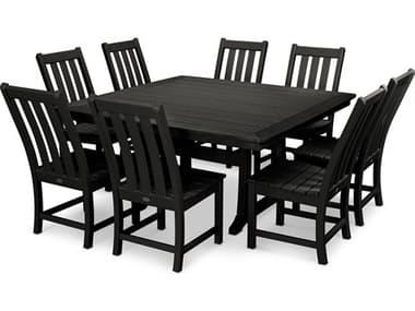 POLYWOOD® Vineyard Recycled Plastic 9 Piece Dining Set PWPWS4061