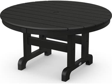 POLYWOOD® Traditional Recycled Plastic 36'' Wide Round Chat Table PWRCT236