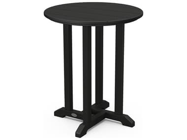 POLYWOOD® Traditional Recycled Plastic 24'' Wide Round Bistro Table PWRT124