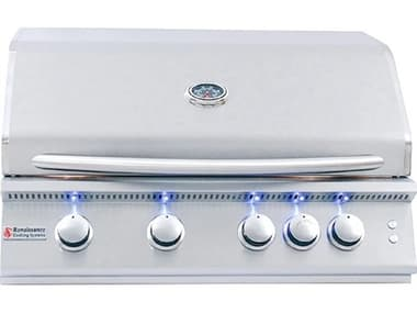RCS Premier Series 32 Inch 4-Burner Built-In Propane Gas Grill With Rear Infrared Burner & Grill Lights RCRJC32ALLP