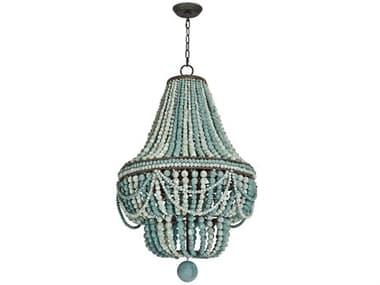 Regina Andrew Malibu Weathered Blue Six-Lights 21'' Wide Chandelier REG161083BL