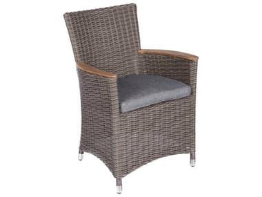 Royal Teak Collection Helena Chair Gray / Gray Cushion RLHEFWGR