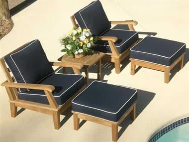 Royal Teak Collection Miami Pool Cushion Lounge Set RLMIACHSET