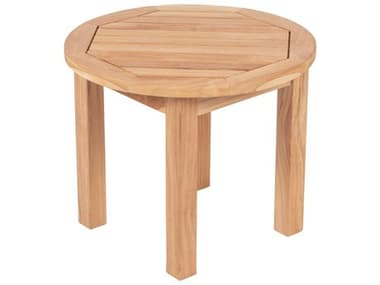 Royal Teak Collection 22'' Wide Round Side Table Round RLMIASTR