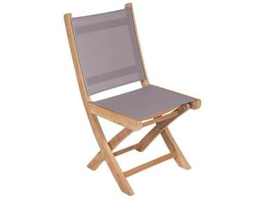 Royal Teak Collection Sailmate Folding Side Chair - Gray Sling RLSMSG
