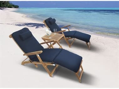Royal Teak Collection Steamer Cushion Lounge Set RLSTMRLNGSET2