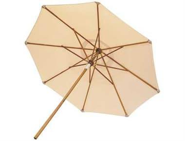 Royal Teak Collection Deluxe 10 Foot White Octagonal Manual Lift No Tilt Umbrella RLUMBW