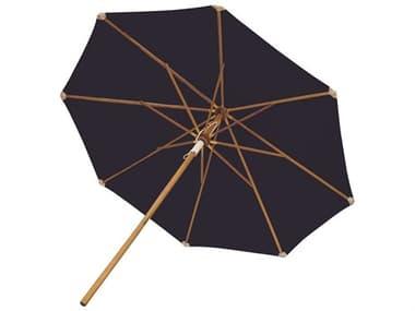 Royal Teak Collection 10' Deluxe Umbrella-Navy (Olefin Fabric) RLUMN