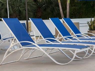 Source Outdoor Furniture Atlantic Aluminum Sling Lounge Set SCATLANTICSET7