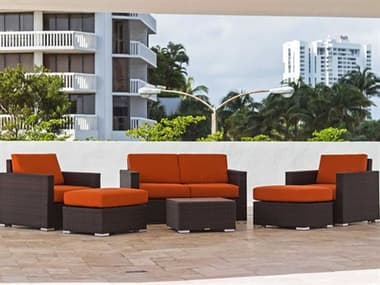 Source Outdoor Furniture Lucaya Wicker Cushion Lounge Set SCLUCLNGESET4
