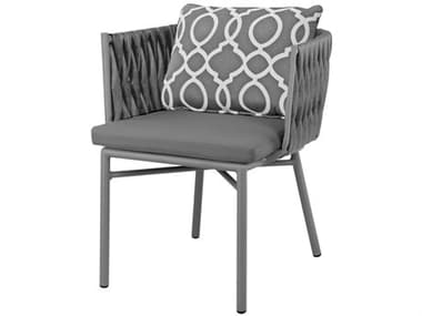 Source Outdoor Furniture Aria Aluminum Cushion Dining Arm Chair SCSF20281631