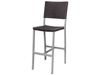 Source Outdoor Furniture Fiji Aluminum Wicker Stackable Bar Side Chair SCSF22011721