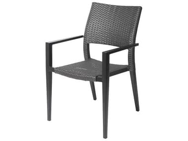 Source Outdoor Furniture Chloe Aluminum Wicker Stackable Dining Arm Chair SCSF22071631