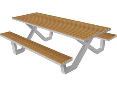 Source Outdoor Furniture Vienna Aluminum 8' Picnic Table SCSF2404367
