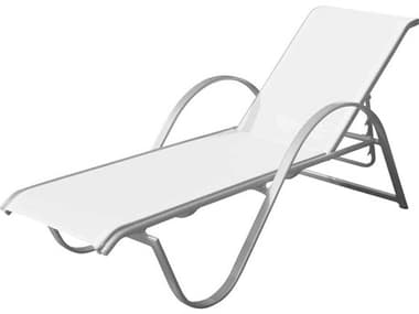 Source Outdoor Furniture Lanai Aluminum Sling Stackable Chaise Lounge SCSF3011104
